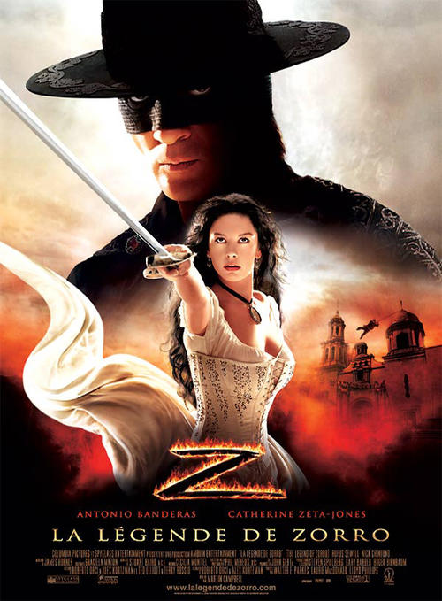 佐罗传奇The legend of zorro 2005 海报 法国