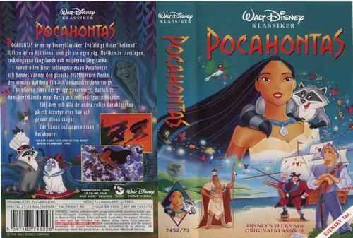 风中奇缘 Pocahontas 1995 电影图片 录影带封套 瑞典 大...